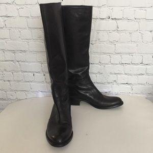 Via Spiga Knee High Boots Black Leather